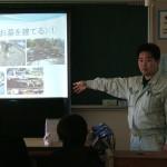 青島中学校で職業講話をさせていただきました。