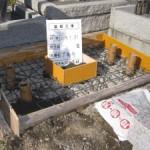 お墓の基礎工事