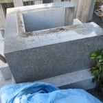 藤枝市 西運寺にて、免震工事のために石碑を取り外しました【藤枝市音羽町】