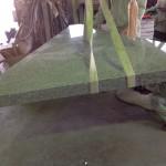 工場にて、妙法寺の永年供養塔の屋根の加工に取り掛かりました【静岡県焼津市】