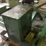 焼津工場にて高山寺のお客様のお墓の磨きなおしをしています【焼津市 焼津工場】