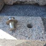 焼津市の地域墓地にて、香炉金具の取り替えをいたしました【静岡県焼津市】