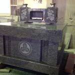 工場にて、葉梨の里霊園のお客様のお墓を組み立てました【静岡県焼津市】