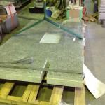 工場にて、大きなお墓の加工が始まりました【静岡県焼津市】