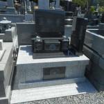 ガルーダグリーンの洋型のお墓が完成しました。焼津市 火屋朝光霊園