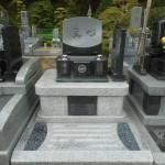 藤枝霊園にグランブルーと白牡丹を使った素敵なお墓が出来上がりました。