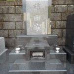藤枝市の藤枝霊園にガルーダグリーンのデザイン墓石が完成しました。