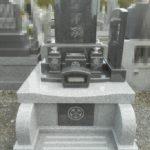 位牌型のお墓が完成しました!正傳院 石種ガルーダグリーン 688