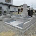 久昌寺にて、綺麗に改修されて明るいお墓が完成しました! 稲田石