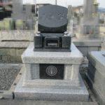 シンプルですっきりとしたお墓が出来上がりました 岳叟寺 グランブルー 白牡丹
