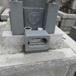 養命寺にて、お墓の免震とクリーニングをしました!きれいなお墓になりました。