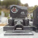 藤枝霊園にて バラのステンドグラスが美しいお墓が完成しました。