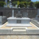 高級な小松石の五輪塔を活かして、生まれ変わったお墓です!静岡県藤枝市 藤枝霊園