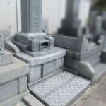 静岡市駒形通りのお寺に新しいお墓を建てました。志太地区以外のお仕事でもお受けしています。