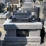 静岡市清水区でのお墓建立。肉合い彫りの前字が美しい素敵なお墓です。藤枝市外のお墓のご相談にものっています。
